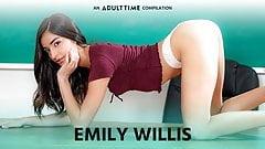 ADULT TIME - Emily WIllis COMP, Creampie & Rough Sex