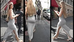 Hot Blonde Tight Dress.