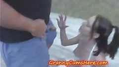 Grannys, a Teen and some TIT Fucking