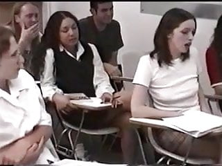 Schoolgirls Are Punished By Female Teacher In The Classr XhkRrH