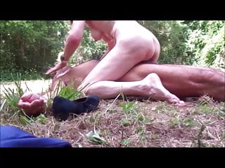Hot Granny In Forest