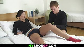 Cheating girl gets her pussy fingered before riding