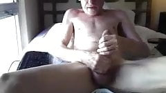 Skinny grandpa with huge dick