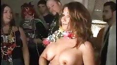 mardi gras breast suck