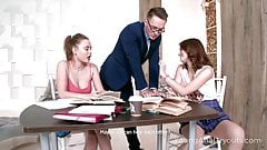 Talented tutor gives two cuties what they need