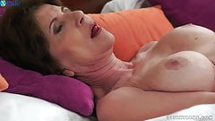 Horny granny gets her shaved hole nailed with bbc