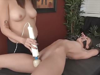 Girls vibrator bondage Hot girl tied up and vibed