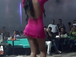 Dress sexy short sweater Hot and very sexy girl in short dress dancing reggaeton