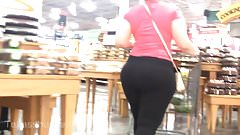 Phat Assed Thick Latina in Black Spandex - Busted!