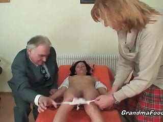 Hot mature couples - Hot mature couple having threesome fun with hot babe