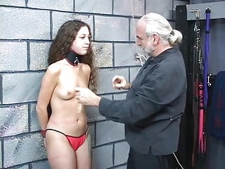 Bdsm collars montreal Small-titted collared bdsm brunette gets her nipples clamped and pulled hard
