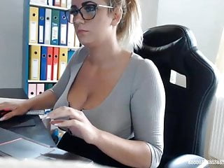The secretary sex scene Maria busty blonde secretary secret cam scene