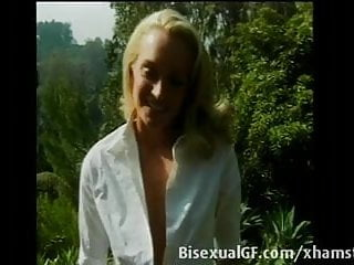 Two sexy guys having sex - Two sexy blonds are having sex outdoors