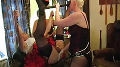 One Sissy Pegged To Orgasm in Chastity - Other Humiliated.