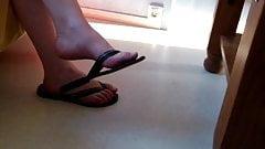 Candid feet mature