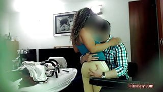 Maid midget gets grope at work and then fucked doggy style