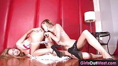 Cute lesbian teenie licked and rimmed