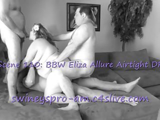 Eliza dushku strip scene Swineys pro-am scene 110: bbw eliza airtight dp