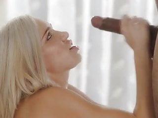 Kacey jordan blowjob Kacey jordan jerks a black cock onto her face.