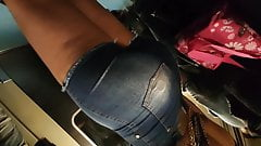 Huge ass booty jeans super tight shorts
