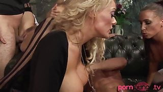 Glamorous group – babes with big boobs