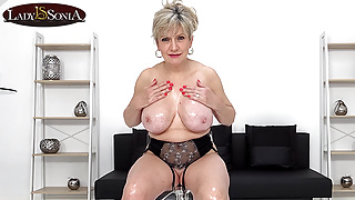 JOI from Lady Sonia as she strips completely naked