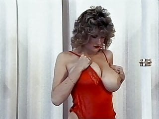 Vintage glass hanging Hanging on - vintage 80s big bouncy tits dance tease