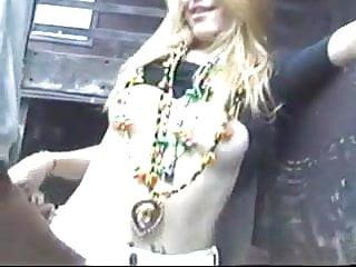 Drunk girl nude at mardi gras Mardi gras girl fucks a stranger