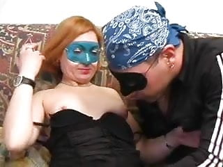 Mask fetish 2008 jelsoft enterprises ltd Beautiful blonde in a blue mask gets fucked on her couch by big dick man