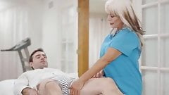 65 y.o. Psychotherapist Works On A Young Guy - Sally D'Angelo
