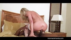 hubby films wife getting bbc in Wet Bed