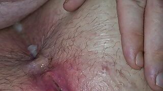Bbw tight asshole fucked loud orgasm push cum out very messy