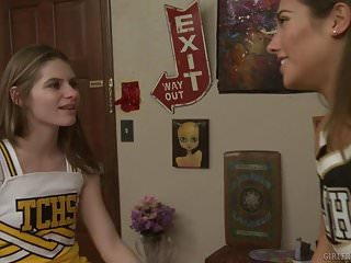 Cheerleader lesbians kiss - Have you ever thought about girls