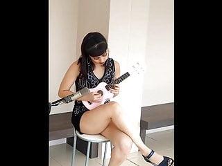 Gay metal musicians Silky legs sexy musician
