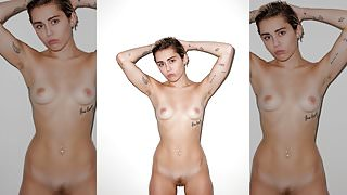 Miley Cyrus Naked For Candy Magazine