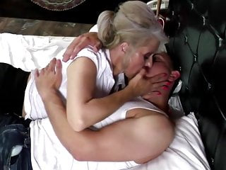 Stitch vagina Sexy granny takes young cock in hairy vagina