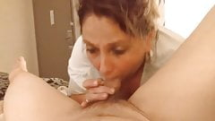 Mature wife is sucking like hell again