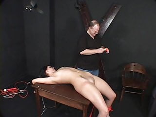 Sexy hair wax Darkhaired whore, bound waxed by her master