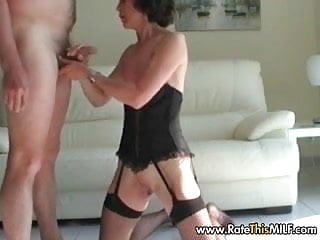 Naked rate my Rate my milf - skinny amateur wife in lingerie blowjob