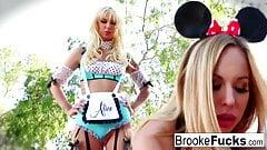 Brooke the Alice and Olivia the Minnie Halloween fuck