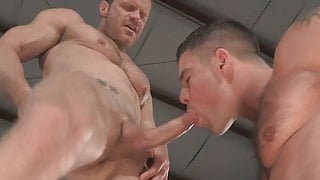 Two extremely horny gay stallions fuck