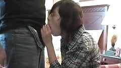 Nerdy gril getting fucked by big cock