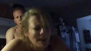 Mature with big tits is fucked by black guy