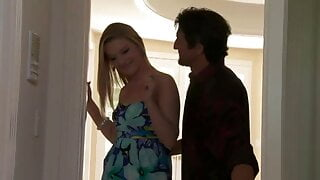 Teenage blonde delights the hardcore bed sex her hubby award