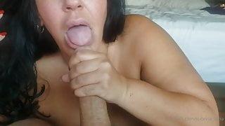 milf sucks dick for cumshot