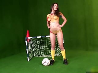 Nude body paint pics - Body paint in the romanian football strip.