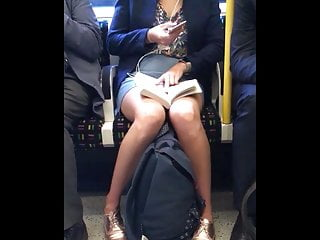 New nipslip oops upskirt Candid lucky upskirt downblouse oops on train - morning wood