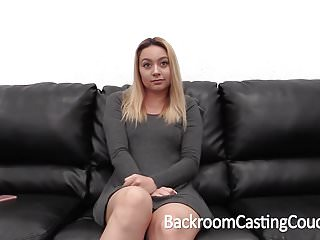 Hairy waitress - Cute waitress creampie on casting couch