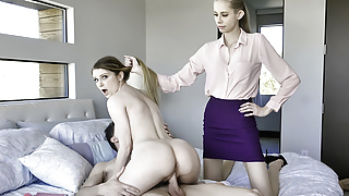 FamilyStrokes - Hot Stepmom Teaches Her Teens How To Fuck