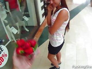 Sweet cumshot - Sweet strawberry fuck in a wc